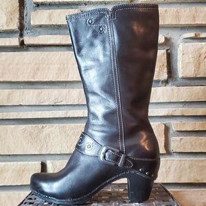 🥀DANSKO Black Rylan Crazy Horse Clog Boots Sz 39